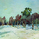 Garden in the snow. 1880, Isaac Ilyich Levitan