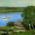 Isaac Ilyich Levitan - Landscape with a boat. End of 1880