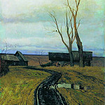 Autumn. The road to the village. 1877, Isaac Ilyich Levitan