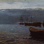 Isaac Ilyich Levitan - On the Volga. By the evening. 1888
