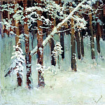 Isaac Ilyich Levitan - Forest in winter. 1880