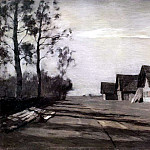 Moonlit Night. Village. 1897, Isaac Ilyich Levitan