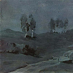 Shadows. Moonlit Night. 1880, Isaac Ilyich Levitan