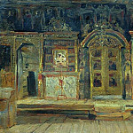 Inside the Peter and Paul Church in Pleso, on the Volga. 1888, Isaac Ilyich Levitan