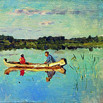 Isaac Ilyich Levitan - On the lake. Anglers. End 1890