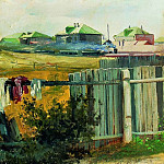 Landscape with fence, Isaac Ilyich Levitan