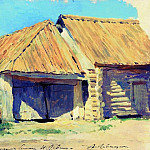Stables . 1880, Isaac Ilyich Levitan