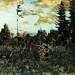 cut down a forest. Woodpile. 1898, Isaac Ilyich Levitan
