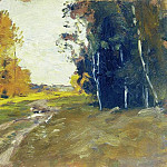 Evening. The road in the woods. 1894, Isaac Ilyich Levitan
