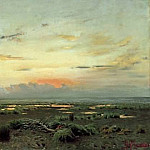 evening over the marsh. 1882, Isaac Ilyich Levitan