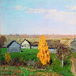 Golden Autumn. Slobidka. 1889, Isaac Ilyich Levitan