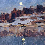 Isaac Ilyich Levitan - Landscape with the moon. 1890
