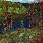 Isaac Ilyich Levitan - Lake in the woods