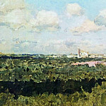 Isaac Ilyich Levitan - View on the Novodevichy Convent. 1898-1899