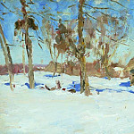 Isaac Ilyich Levitan - In the beginning of March. 1900