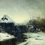 Isaac Ilyich Levitan - Winter landscape with mill. 1884