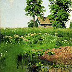 hut on a meadow. 1880, Isaac Ilyich Levitan