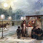 Evening in St. Petersburg. 1871, Vasily Ivanovich Surikov