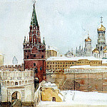 View on the Kremlin in the winter. 1876, Vasily Ivanovich Surikov
