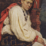 Artists Model in the ancient Russian costume. 1882, Vasily Ivanovich Surikov