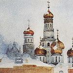 Belfry of Ivan the Great and the dome of the Assumption Cathedral. 1876, Vasily Ivanovich Surikov