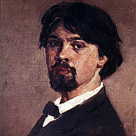 Self-portrait. 1879, Vasily Ivanovich Surikov