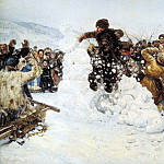 Vasily Ivanovich Surikov - Taking a snow town. 1891