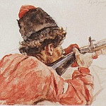 Shooting Cossack. 1893, Vasily Ivanovich Surikov