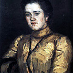 Portrait of AI Emelianova. 1903, Vasily Ivanovich Surikov