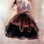 Head of young ladies. 1890, Vasily Ivanovich Surikov