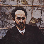 Vasily Ivanovich Surikov - Portrait of IE Krachkovsky. 1884