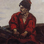 rower in the boat. 1912, Vasily Ivanovich Surikov