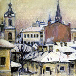 View on the Kremlin. 1913, Vasily Ivanovich Surikov