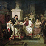 Apostle Paul explains the Christian in the presence of the king Agrippa, his sister Berenice, and the proconsul Festus. 1875, Vasily Ivanovich Surikov