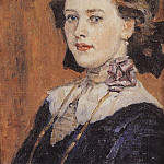Portrait of a young woman. 1911, Vasily Ivanovich Surikov
