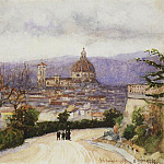 Vasily Ivanovich Surikov - Florence. Walking (wife and children of the artist). 1900
