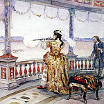 Empress Anna Ivanovna in Peterhof Temple shoots deer. 1900, Vasily Ivanovich Surikov