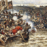 Conquest of Siberia by Yermak 1. 1895, Vasily Ivanovich Surikov