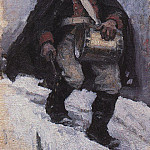 soldier with a drum. 1898, Vasily Ivanovich Surikov