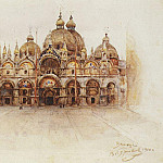 Cathedral of St. Marks in Venice. 1900, Vasily Ivanovich Surikov