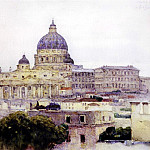 St. Peters Basilica in Rome. 1884, Vasily Ivanovich Surikov