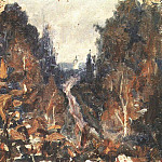 Vasily Ivanovich Surikov - Road to Hotkovo. 1884