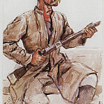 Cossack with a gun. 1893, Vasily Ivanovich Surikov