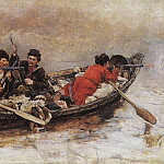 Cossacks in the boat, Vasily Ivanovich Surikov