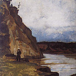 Landscape with a figure of his brother, Vasily Ivanovich Surikov