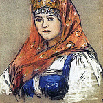 Portrait of young ladies, Vasily Ivanovich Surikov