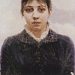 Vasily Ivanovich Surikov - Portrait EA Surikova. Not later than 1888