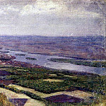 View of Krasnoyarsk from the hills. 1890, Vasily Ivanovich Surikov
