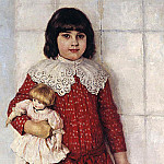 Vasily Ivanovich Surikov - Portrait OV Surikova (Konchalovskaya in marriage), daughter of the artist as a child. 1888