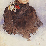 Vasily Ivanovich Surikov - Neapolitan girl with flowers in their hair. 1883-1884